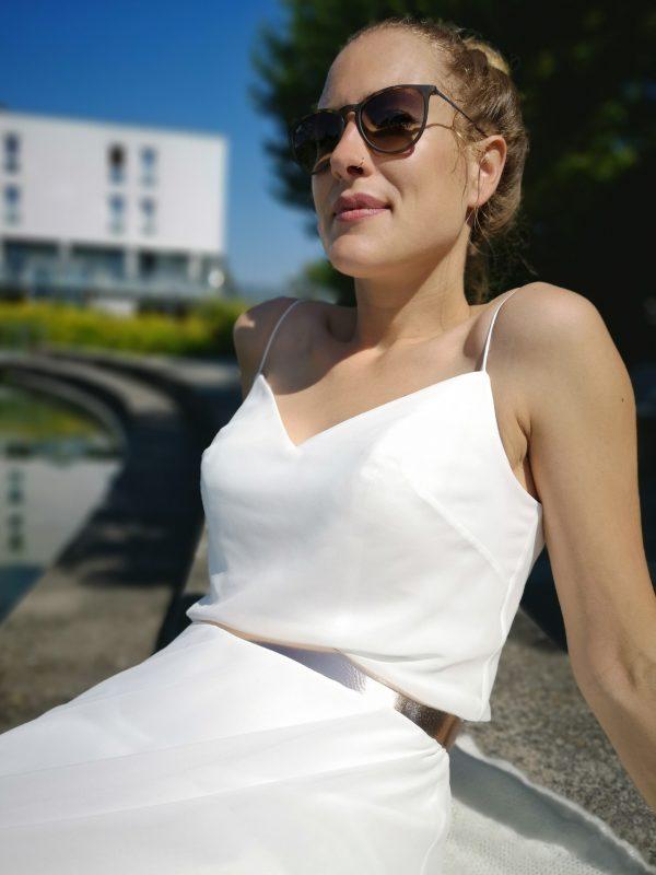 Brautgürtel Leder Rosegold